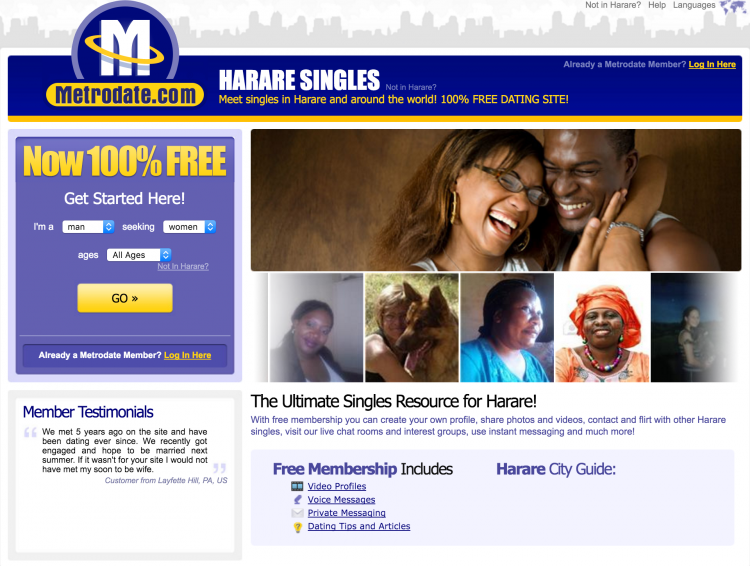 Dating sites for zimbabweans