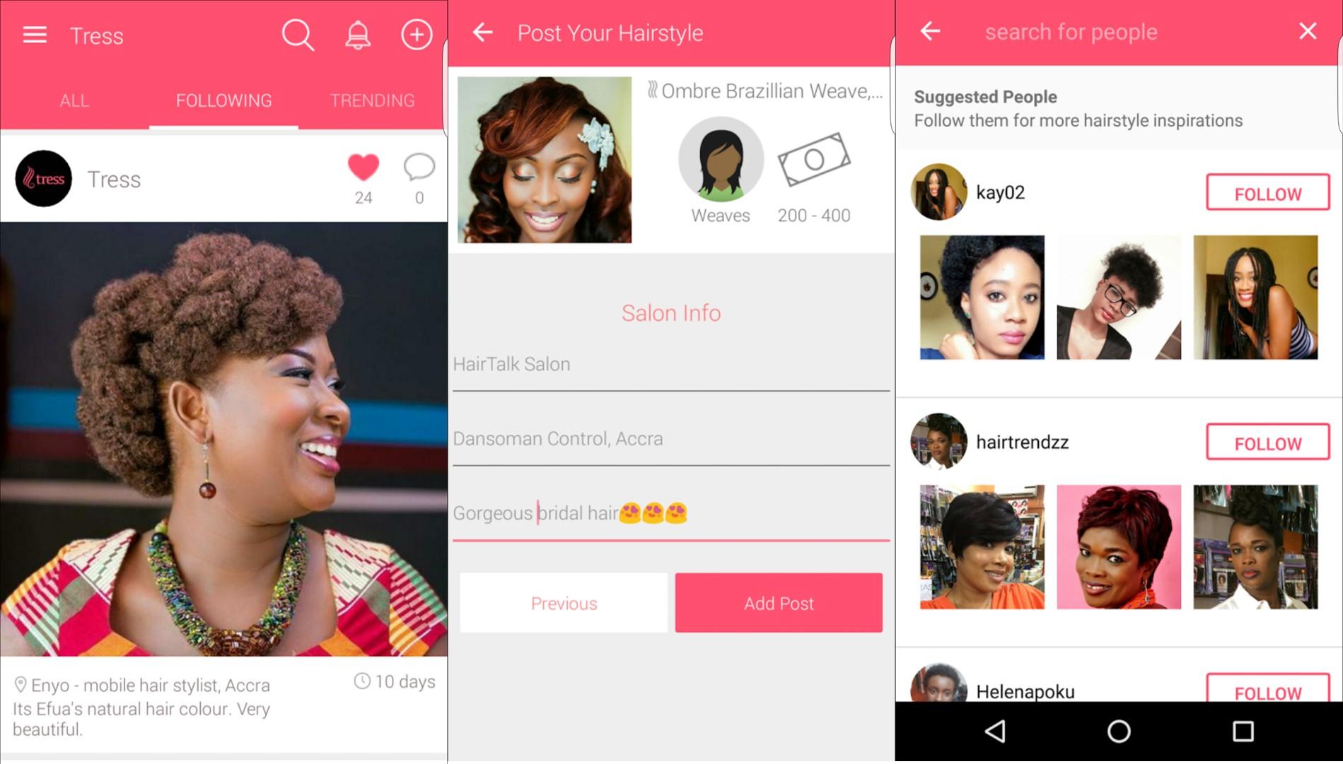 Black face app - Tress 1