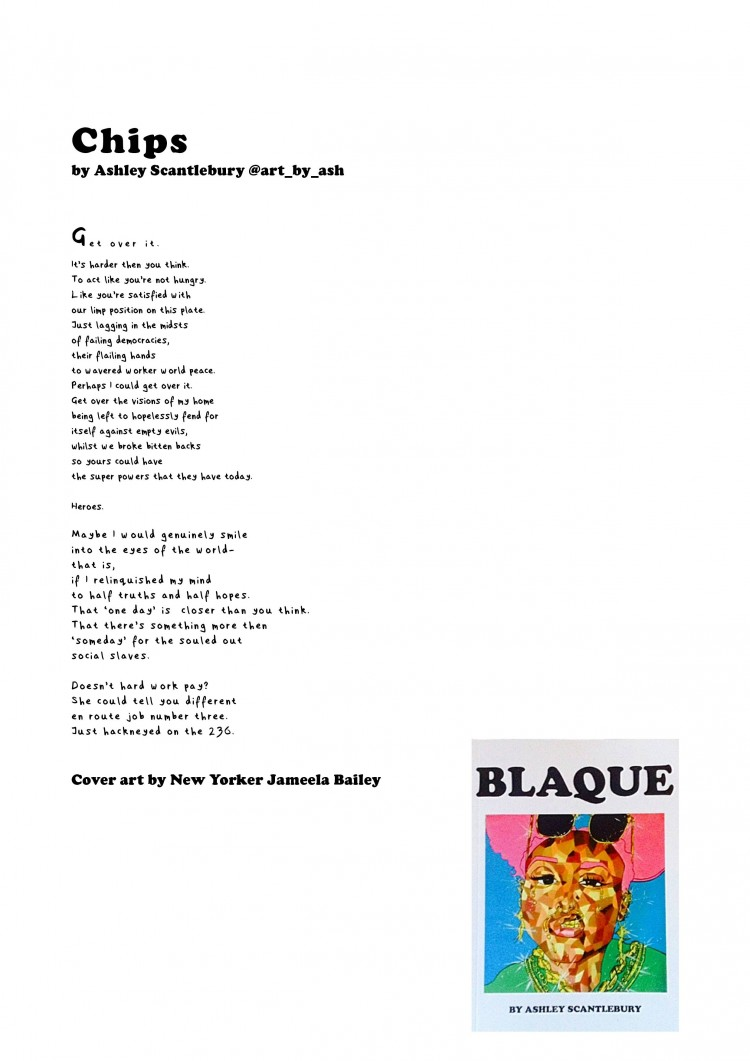 Chips, a poem from BLAQUE
