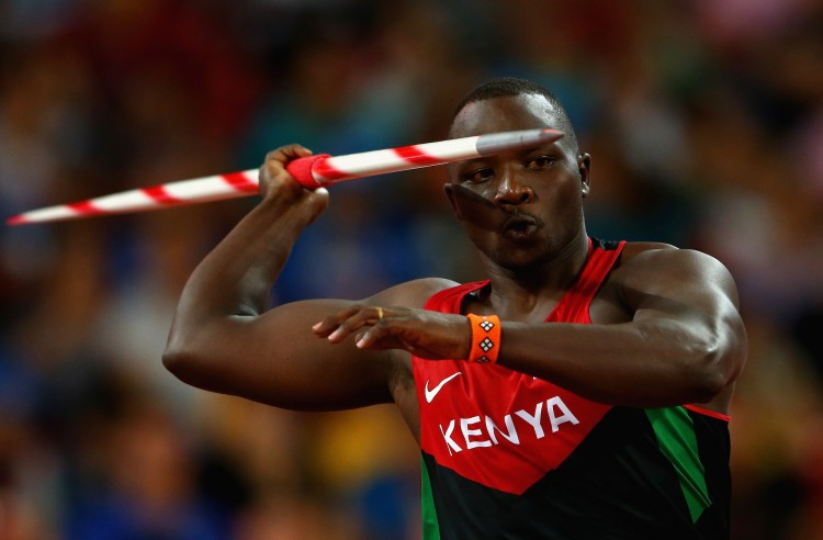 Julius Yego of Kenya in the men's javelin final