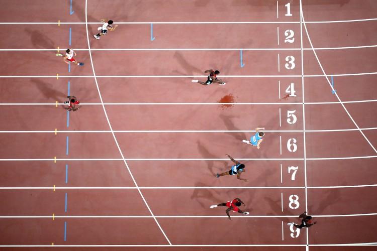 Nicholas Bett in the men's 400 metres final