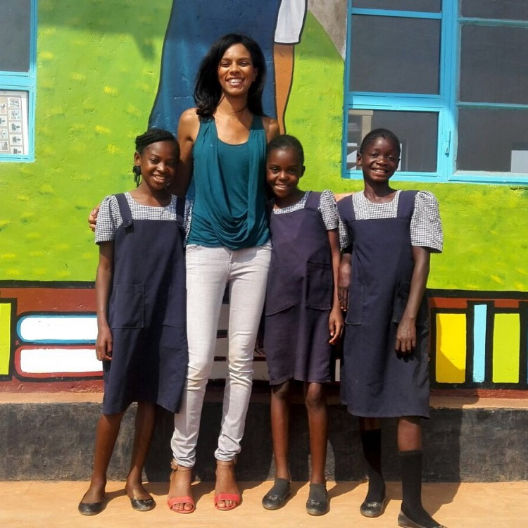 Noella Coursaris at the Malaika School